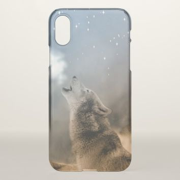 Cool Howling Wolf iPhone X Case