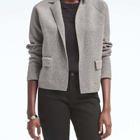 Milano Stitch Short Blazer | Banana Republic