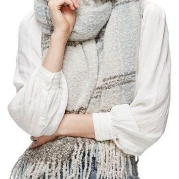 Free People Loveland Plaid Fringe Scarf | Nordstrom