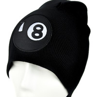 8 Ball Beanie Alternative Clothing Knit Cap 80's Vintage Style