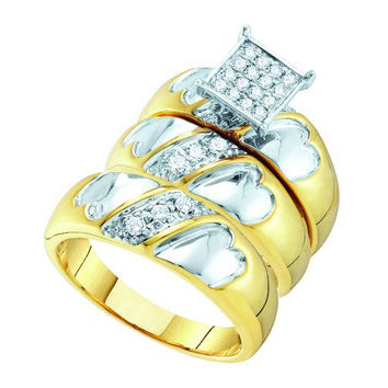 Diamond Fashion Trio Set in 10k Gold 0.32 ctw