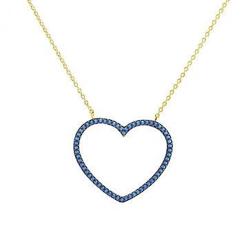 Lariss Turquoise Heart Gold Pendant Necklace