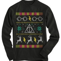 Harry Potter Glasses Ugly Christmas Sweater