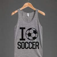 I HEART LOVE SOCCER TANK TOP (IDD261005)