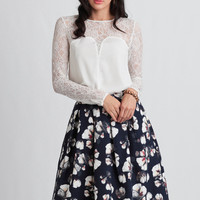 Be A Darling Floral Skirt
