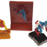 Lot 3 Top Fin Marvel Aquarium Fish Ornaments Spiderman Ironman Captain America