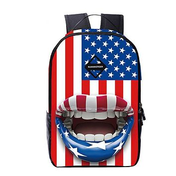 Girls bookbag TZY Mochila National 3D Flag Printing Backpack Women School Bags for Teenage Girls Boys Cute Bookbags Vintage Backpack AT_52_3