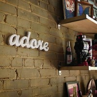 adore upcycled wood sign engagement or wedding by WilliamDohman