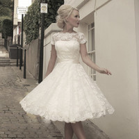 FairyGothMother - Fifties style short wedding dress by Mooshki.