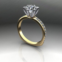 Forever Brilliant Moissanite and Diamond Euro Engagement Ring 1.90 CTW