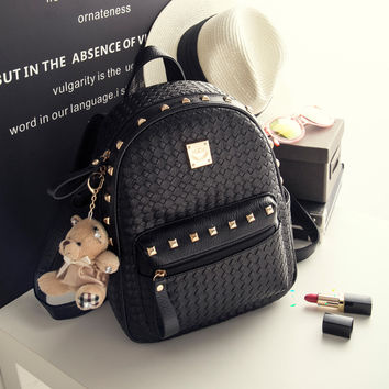 eve st laurent bags - Best Black Studded Backpack Products on Wanelo