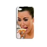 Kim Kardashian Pizza Cat Funny Cute iPod Case Cover iPhone Cool Phone White Fun