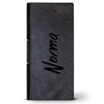 Norma, Hand-Written First Name | Leather Series case for iPhone 8/7/6/6s in Hickory Black