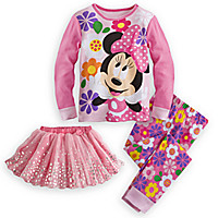 Minnie Mouse Deluxe PJ PALS and Tutu Set for Girls