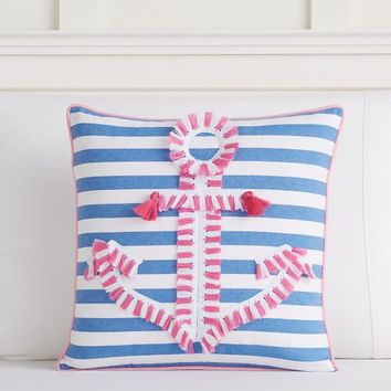 Fringe Anchor Pillow Cover