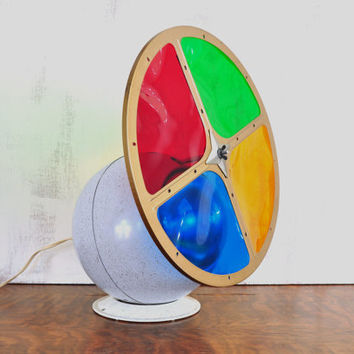 Vintage Christmas Color Wheel, Aluminum Christmas Tree Light, Rotating Color Light, Snowball Light, Penetray Color Wheel
