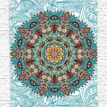 Hippie Tapestry Mandala Bohemian Boho Blanket Bedspread Throw