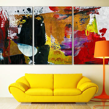 Abstract Painting Large Art - Oil Paints Photo on Canvas for Home of Office Decoration, Abstract Art Poster Print