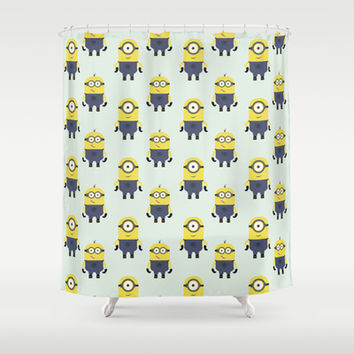 Minions (Patterns Please Series #1) Shower Curtain by Lalaine Lim