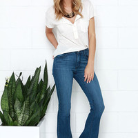 Friends Flare-ever Medium Wash High-Waisted Flare Jeans