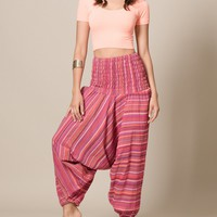 Jaipur Pink Indian Harem Yoga Pants