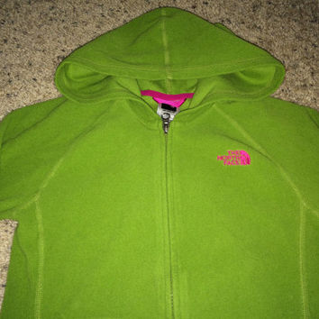 Sale!! Vintage THE NORTH FACE Hooded Jacket Girl's green coats