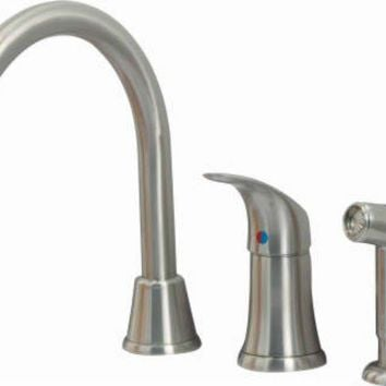 BayPointe™ 116769CA Single Handle Kitchen Wide-Spread Faucet with Spray, Chrome