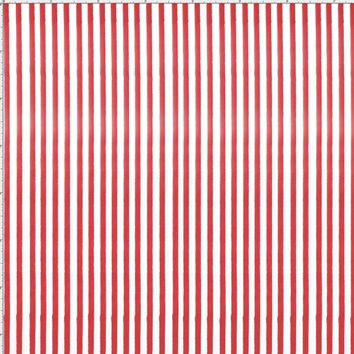 Lazy Stripe Red Fabric