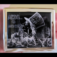 Alice In Wonderland Mad Hatter MEDS OR MADNESS Pill Box