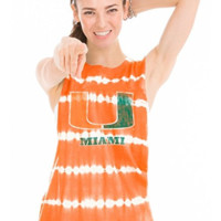 Official NCAA University of Miami Hurricanes The U UM U of M Canes Women's Bamboo Muscle Tee
