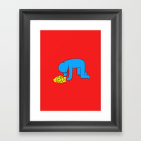 Keith Haring style - Too much alcohol - Funny Illustration Pop Art Framed Art Print by Estef Azevedo