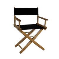 Yu Shan Extra-wide Premium Directors Chair Natural Frame with Black Color Cover