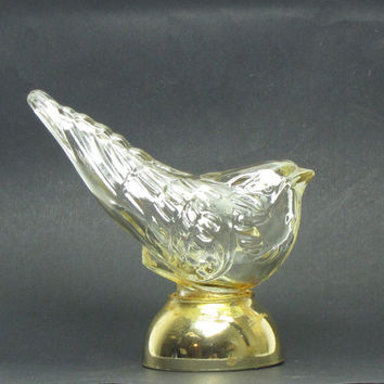 Avon Song Bird Perfume Bottle Vintage Glass Bird Cotillion Cologne Perfume Bottle