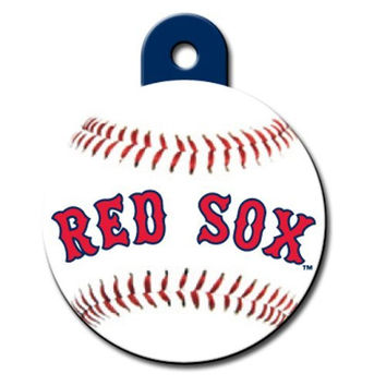 Officially Licensed MLB Boston Red Sox Circle Pet ID Tag