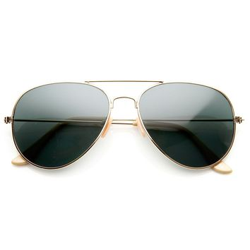 Classic Original Pilot Metal Aviator Sunglasses