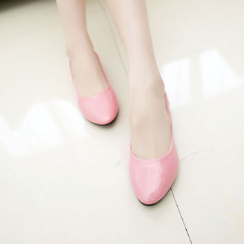 Flat Korean Pointed Toe Sweets Shoes [9257017740]