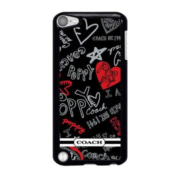 COACH NEW YORK POPPY iPod Touch 5 Case Cover