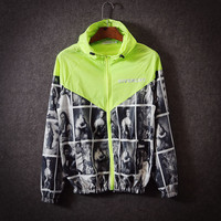 """Givenchy""Couple Unisex Multicolor Pattern Print Zip Hooded Cardigan Jacket Rash Guards"