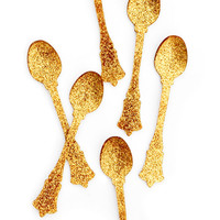 Glitter Teaspoon Set