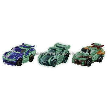 Cars 3 Diecast Micro Racers 3 pack Case D NEXT GEN RACERS NEON TIM TREADLESS OCTANE GAIN IGNITE #20