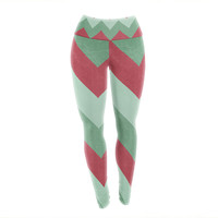 "Catherine McDonald ""Holiday Chevrons"" Yoga Leggings"