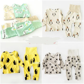 15COLORS BOBO CHOSES baby boy clothing sets girls clothes kids pajama sets vetement enfant garcon kikikids PENGUIN PANDA christ