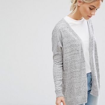 ASOS PETITE Swing Cardigan with Star Cuff Patch at asos.com