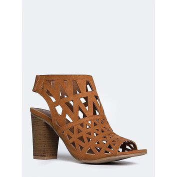 Riviera Laser Cut Booties