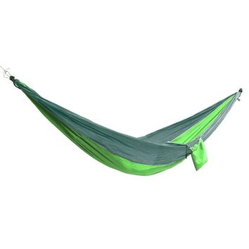 SGODDE Double Person Hammock Swing Bed Portable Parachute Travel Camping