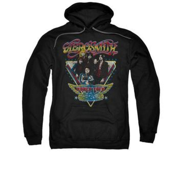 Aerosmith World Tour Triangle Stars Licensed Adult Pullover Hoodie S-3XL