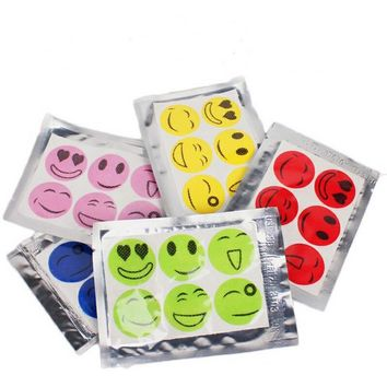 Newest 60pcs/ Set Smiley Insect Mosquito Repellent Stickers Patches Citronella Oil Mosquito Killer Cartoon Repeller Sticker