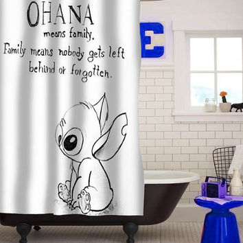 Lilo Series Ohana Lilo and Stitch custom shower curtain