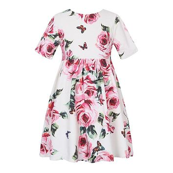 Girl's Floral Princess Party Dress