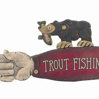 """Trout Fishing Sign - 42"""""""